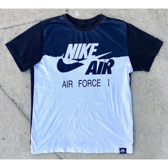 NIKE Air Force 1 T Shirt Retro Vintage Style